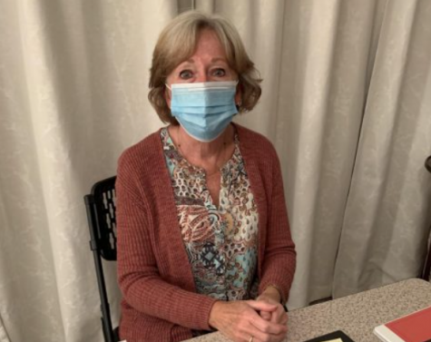 School nurse, Deb Hammergren, in her at home office all set up for another days work as a Covid-19 triage nurse.
