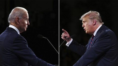 President Donald J. Trump and former Vice President Joe Biden debate over different issues and how they are planning to fix them. Both candidates represent different political views and have varying ways that they want to help the American people.