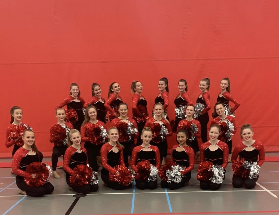 The Chevals perform at their final home football game of the fall season.  The girls show off their new Pom routine Oct. 20.