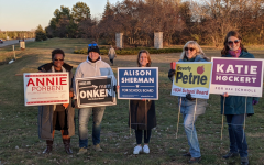 The five elected school board members campaigned together just before the election. These five candidates were all endorsed by the union to fill the open 2 two-year and 3 four-year term seats.