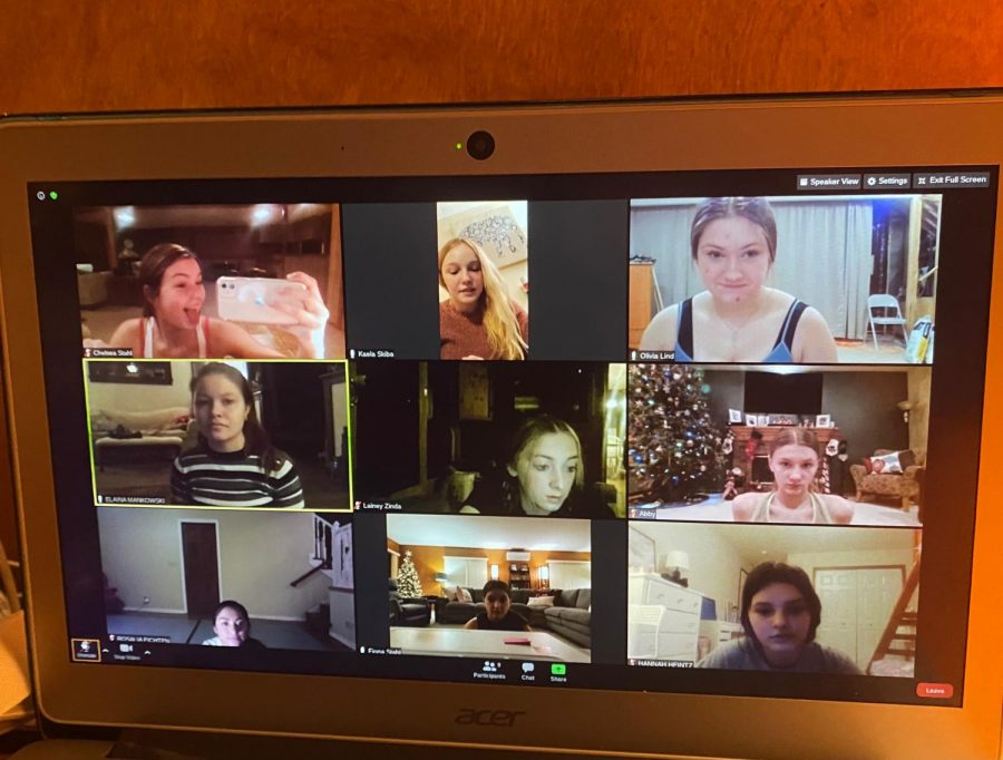 The Chevals Varsity Dance team practices via zoom since the covid-19 restrictions doesn't allow them to rehearse in person. This impacts  each dancer differently from seniors to middle schoolers.