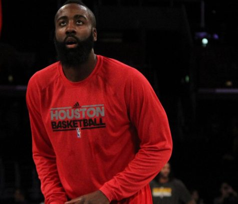 James Harden before he requested trade to Brooklyn Nets.