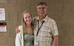 Teacher Mike Kaul is with former student Mallory McKay.
