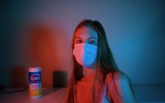 Ivy Lariviere poses for a self portrait on June 29, portraying the feel and reality of 2020 and now 2021 by including a face mask and Clorox in the background.