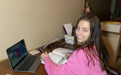 Junior Ella Spitzer is working on online ACT preparation courses over Zoom.