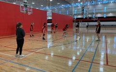 Girls Varsity/JV Basketball team prepares for their upcoming season starting in January.