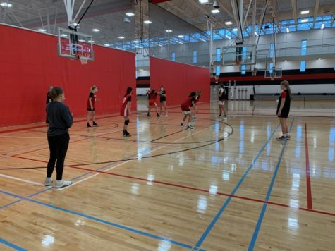 Girls Varsity/JV Basketball team prepares for their upcoming season starting in January.