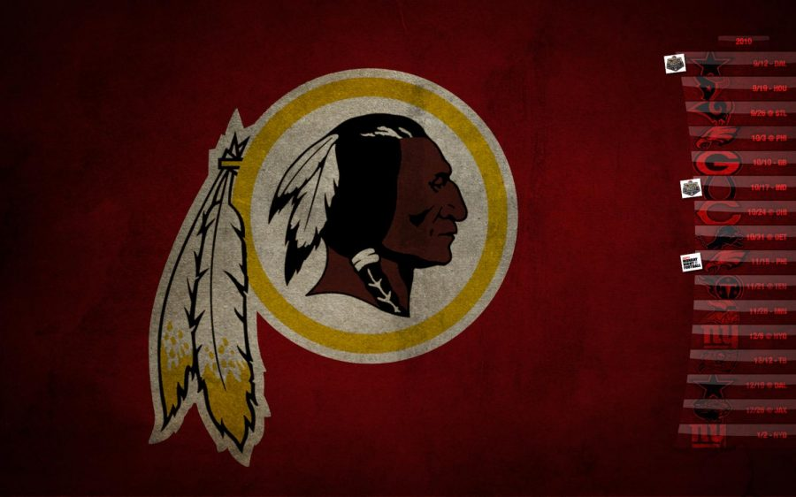 This is an image of former NFL team logo Washington Redskins. The team has now changed their logo and their name to the Washington Football Team.