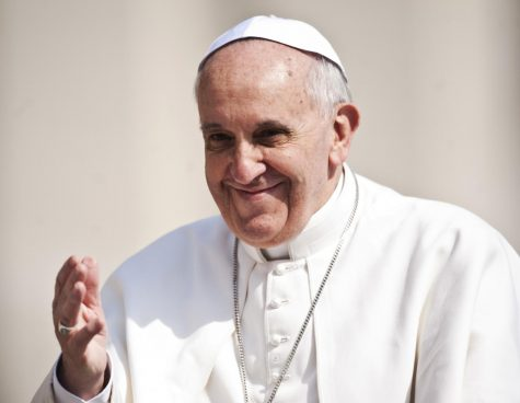 Pope Francis delivers a speech in Vatican City in 2017. Pope Francis signed off on the union statement banning the blessing of same-sex marriage in the Catholic Church.