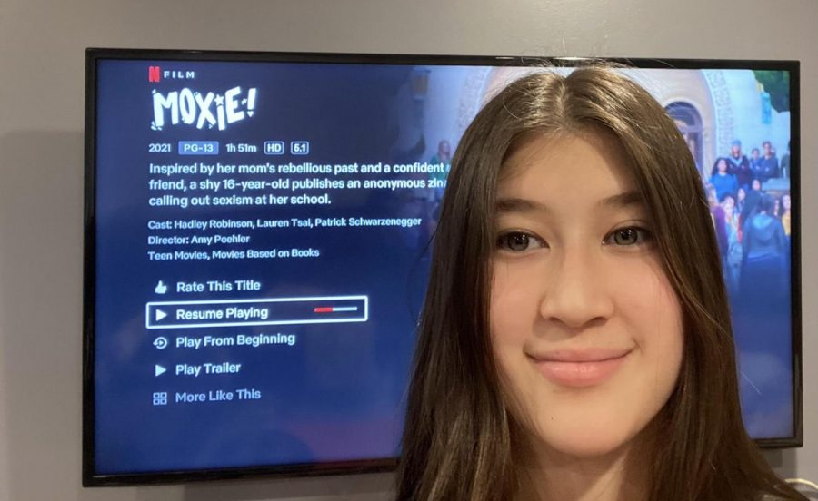 Junior Bella Chau watches the movie Moxie. She is inspired by the message behind it, and thought the movie was very good.