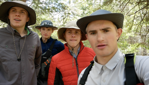 Austin Buck, Otto Hanlon, Mason Buck and Hugh Hanlon film a trip for their channel. This is one of the many trips they will go on.