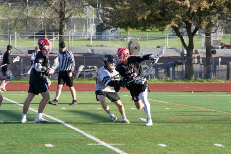 The Varsity Boys Lacrosse team were facing the Roseville raiders on Friday, May 7th. The boys won that game making their record 12 wins and two losses.