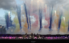 This is a picture of Coldplay's performance at the Brit awards on May 11th, 2021.
