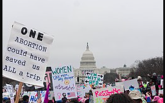 Women's march at the U.S. capital in order to keep Roe v. Wade in place and protect a woman's abortion right.