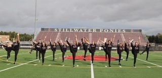 Chevals dance team practices at Pony Stadium Sept. 24 in preparation for the Homecoming game. They have worked hard this year alongside their new coach.