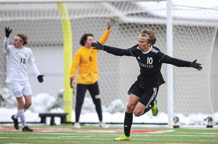 Riley Buxell score the game winning goal to win sections last year to continue their win streak. The varsity boys soccer team carries on their win streak from last year and keep it going