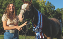 Junior Alison Bergmann, with the horse that made her the World Champion.