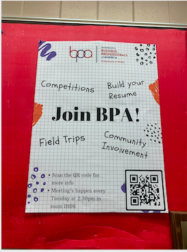 BPA club is all about marketing and business. It teaching all aspects of business so you can have an idea of what you want to get into when you are older. The club goes on field trips and even participates in competitions. I have high hopes for our BPA club here at SAHS.